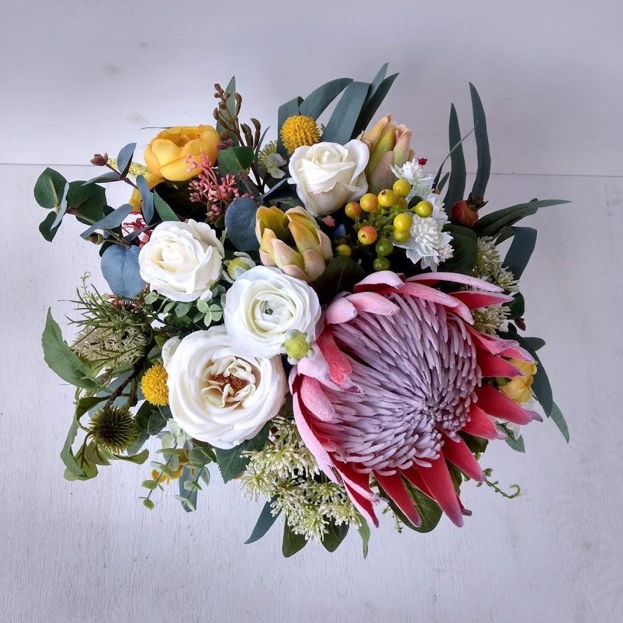 Autumnal Native Bouquet Faux Flowers