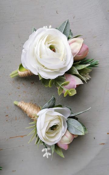 faux floral buttonholes